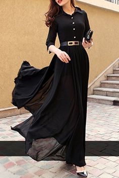 Trendy Ideas for skirt long black moda Stylish Dresses, Simple Dresses, Women's Fashion Dresses, Hijab Fashion, Beautiful Dresses, Nice Dresses, Indian Designer Outfits, Designer Dresses, Maxi Outfits
