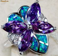 AMETHYST BLUE OPAL Purple Jewelry, Amethyst Jewelry, Gems Jewelry, Jewelry Box, Jewelry Accessories, Fine Jewelry, Jewelry Design, Jewlery, Diamond Are A Girls Best Friend