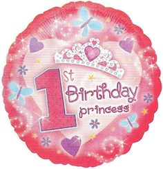 Number One Shape 43 Inch Pink Sparkles Mylar Balloon Pkg//1 Birthday Party