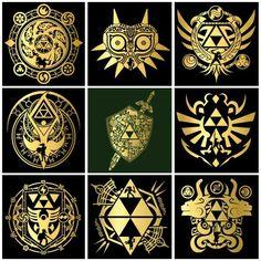Love these Legend of Zelda designs/symbols