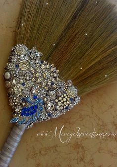 Jeweled wedding jumping broom