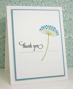 hand crafted thank you card from Mama Mo Stamps ...  clean and simple ... Summer Silhouettes ... Stampin' Up!