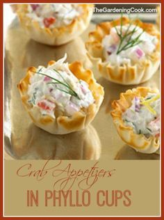 These lovely appetizers taste delicious in their phyllo tart shells. The recipe calls for horseradish and paprika to add a nice kick.