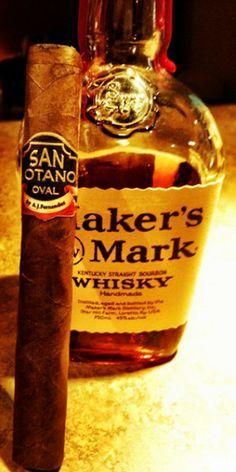 Enjoy a great cigar with Maker's Mark around a bonfire!