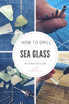 How to Drill Sea Glass in Under 50 seconds by Eternal Tools – Craft Beach Glass – Dremel Sea Glass Crafts, Seashell Crafts, Beach Crafts, Diy Crafts, Broken Glass Crafts, Broken Glass Art, Quick Crafts, Sea Glass Beach, Sea Glass Art