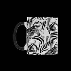 Black & White Stripes Custom Morphing Mug