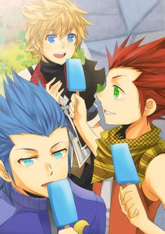 Tags: Anime, Kingdom Hearts: Birth by Sleep, Ventus, Lea, Isa