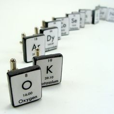 If someone in the science field were getting married, these cuff links would be pretty sweet