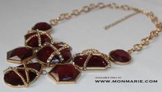 Multilevel Gold Tone Statement Necklace $18 ONLY AT www.monmarie.com