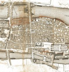 Medieval Paris Before Baron Haussmann's Transformation 2 Paris Map, Old Paris, Historical Architecture, Historical Maps, Baron Haussmann, Urban Mapping, Le Siecle, Saint Chapelle, Vertical City