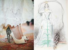Lace and Spikes!  I love it.  Photo: Lisa Rigby Photography