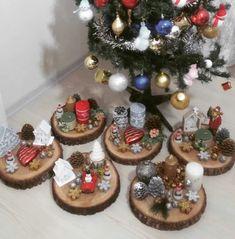 Kütükten dekoratif mumluklar