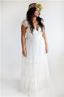A-Line/Princess Straps Floor-length Tulle Wedding Dress