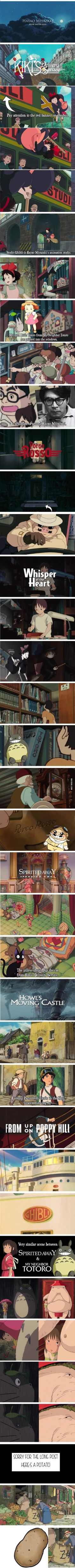 Hayao Miyazaki Movie Easter Eggs (Studio Ghibli) i have every single Miyazaki movie in my collection