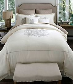 Noble Excellence Villa Signature Linen Crest Bedding Collection | Dillardu0027s  Mobile | BEDROOMS DECOR U0026 More 4 | Pinterest | Dillards, Bedding  Collections And ...