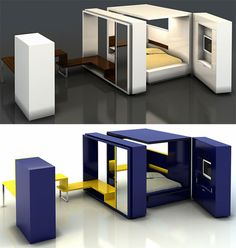 Fold Out Rooms Bedroom Oda 2 I compact living units. Fold Out Rooms Bedroom Oda 2 I compact living units. Compact Furniture, Multifunctional Furniture, Built In Furniture, Smart Furniture, Modular Furniture, Space Saving Furniture, Furniture Design, Furniture Ideas, Convertible Furniture