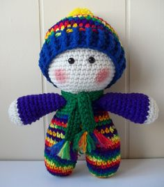 Crochet Rainbow Doll National Pride March by KarensCrochetCottage