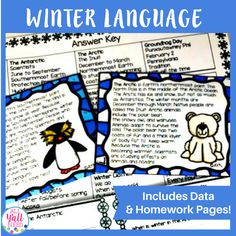 Winter Text Passages and Sentence Frames for Upper Elementary is great for reviewing winter concepts. This unit includes listening for WH- information, sentence building, and pre-made and fillable (editable) forms.|Vocabulary|Speech Therapy| Winter|SLP|Winter Activities|#SLP #WinterActivities