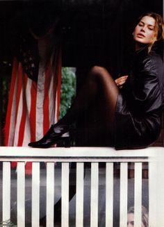 Carre Otis by Pamela Hanson, Vogue Italy Oct.1991