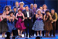 """Cast members of The Pajama Game, the 2006 Tony Award winning Best Revival of a Musical, perform """"Hernando's Hideaway"""" on the Tony telecast."""