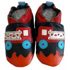 bbkdom - Lauflernschuhe Krabbelschuhe Babyschuhe Leder Schuhe mit«Alerte au Feu» - http://on-line-kaufen.de/bbkdom/bbkdom-lauflernschuhe-krabbelschuhe-leder-mit-11