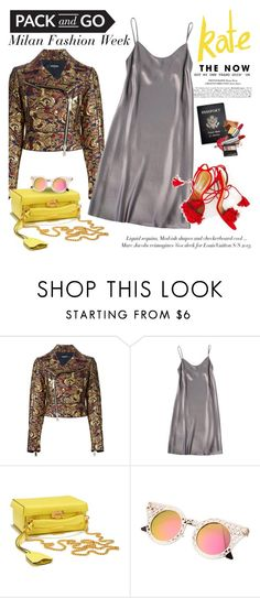 """""""Pack and go: Milan"""" by purpleagony ❤ liked on Polyvore featuring Dsquared2, Passport, Shelly Steffee, Mark Cross, women's clothing, women, female, woman, misses and juniors"""