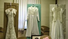 """Display the leaders' different wedding dresses for a """"Temple Night"""" or a Marriage themed activity"""