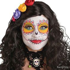 Bring your Day of the Dead costume to life with a Bone-ita makeup look! Click through for Halloween Make-Up plus check out our step-by-step guide!