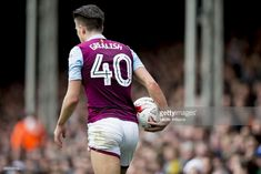 Jack Grealish of Aston Villa during the Sky Bet Championship match between Fulham and Aston Villa at Craven Cottage on April 17 2017 in London England Black Muscle Men, Jack Grealish, Aston Villa, Fulham, Haircuts For Men, Men's Haircuts, Sport Man, Gym Men, Sexy Men