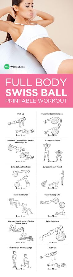 Visit http://WorkoutLabs.com/workout-plans/full-body-swiss-ball-workout-for-men-women/ for a FREE PDF of this Full Body Swiss Ball at home Workout