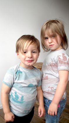 adorable! screen printed toddler tees