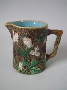 George Jones Majolica blossom jug