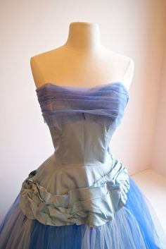 50s Prom Dress Vintage 1950s Prom Dress Vintage by xtabayvintage