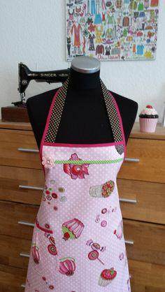 """Schürzen - """"Backe in Rosa!"""" - Kochschürze - ein Designerstück von XBergDesign bei DaWanda"""