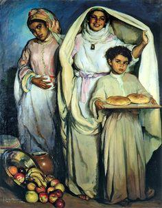 El mercado by Jose Cruz Herrera, 1890-1972, Spanish.