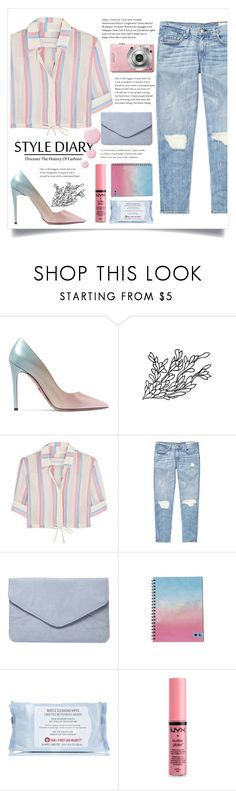 """street style"" by cubukkrakker ❤ liked on Polyvore featuring Prada, Solid & Striped, rag & bone, Dorothy Perkins, First Aid Beauty, NYX and Topshop"
