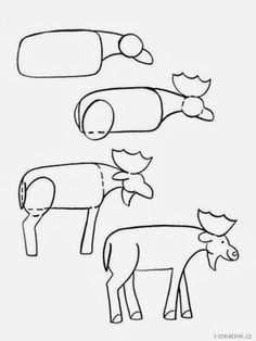 Animals how to draw a moose for kids moose pinterest moose a moose thecheapjerseys Gallery