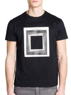 6d8721cce EMPORIO ARMANI Square Graphic Printed Tee. #emporioarmani #cloth #tee