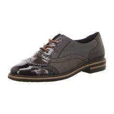 NEU: Rieker Schnürer Business-Schuhe 50603-00 - schwarz kombi -