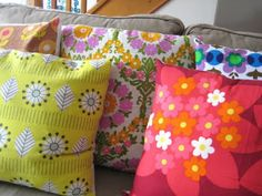 vintage fabric cushions by alice apple