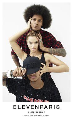 ELEVENPARIS FW15 campaign with Les Twins & Jena Goldsack  shot by Felix Cooper #elevenparis #lifeajoke