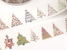 Colorful Christmas Tree Washi Tape - 615