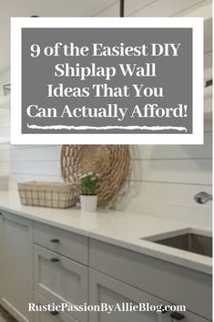 These Cheap Faux shiplap ideas are the best. Get inspired by these 9 DIY shiplap wall that will bring the perfect amount of Farmhouse into your home. Your home will look like Joanna Gaines designed it in no time. Treatment Projects Care Design home decor Faux Shiplap, Modern Farmhouse Decor, Farmhouse Chic, Ship Lap Walls, Diy Wall, Wall Decor, Room Decor, Wall Design, Design Bedroom