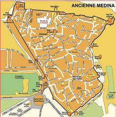 Tangiers Old Medina & Kasbah map