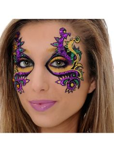 Mardi Gras Eye Mask. You don't have to worry about taking off and loosing your mask...