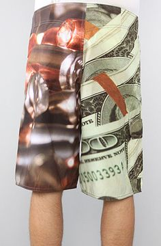 The Blood Money Boardshorts in Sublimated Print by Crooks and Castles