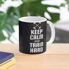 Fitness Design, Train Hard, Mug Designs, Sell Your Art, Keep Calm, Ceramics, Mugs, Printed, Tableware