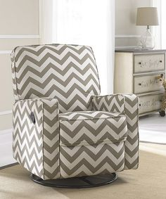 truffle chevron gliding recliner by home meridian