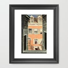 The View Framed Art Print by anipani - $36.00