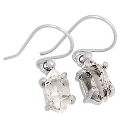 Herkimer Diamond 925 Sterling Silver Earrings Jewelry 5362E - JJDesignerJewelry
